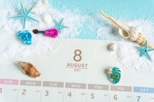 【お知らせ】8月店休日のお知らせ